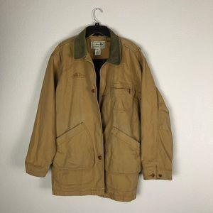 LL Bean Jacket Coat Plaid Lined Mens Size XL